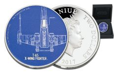 2017 Niue 2 Dollar 1-oz Silver Star Wars T-65 X-Wing Fighter Proof