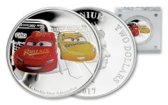 2017 Niue 2 Dollar 1-oz Silver Cars 3 Proof