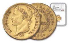1811-A France 20 Francs Gold Napoleon I NGC AU53 Rive d'Or Hoard