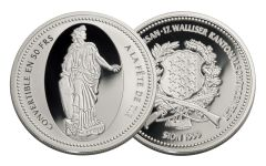 1999 Switzerland Silver Shooting Thaler Sion Proof
