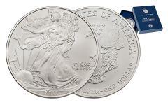 2017-W 1 Dollar 1-oz Burnished Silver Eagle Gem BU with OGP