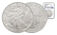 2017-W 1 Dollar 1-oz Burnished Silver Eagle NGC MS69 First Releases