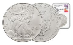 2017-W 1 Dollar 1-oz Burnished Silver Eagle NGC MS70 Early Release Mercanti Signed