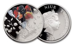 2017 Niue 2 Dollar 1-oz Silver Little Whirlwind Proof
