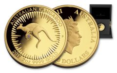 2017 Australia 500 Dollar 2-oz Gold Kangaroo Pink Diamond OGP