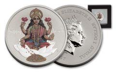 2017 Tuvalu 1 Dollar 1-oz Silver Diwali Festival BU