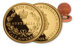 2017 Australia 15 Dollar Half Sovereign Gold Proof