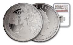 2017 Great Britain 25 Pound 1/4-oz Platinum Britannia NGC PF70UCAM First Struck