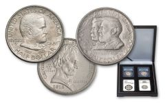 1918-1937 50 Cent Cilvil War NCG/PCGS MS65-66 4pc Set