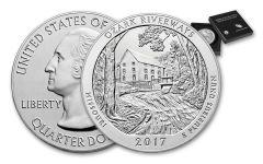 2017-P 25 Cent 5-oz Silver America the Beautiful Ozark National Scenic Riverways Specimen