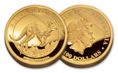 2017 Australia 1 Dollar 1-oz Gold Kangaroo High Relief Proof OGP