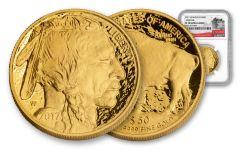 2017-W 50 Dollar 1-oz Gold Buffalo Proof NGC PF70UCAM 225th Anniversary