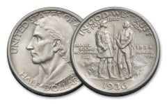 1934-1937 Silver Half Dollar Daniel Boone Commemorative BU