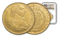1779-M Spain 4 Escudos Gold NGC AU55