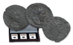 253-271 AD Roman Bronze South Petherton Hoard NGC Choice XF 3pc set