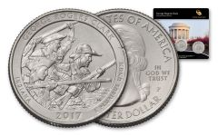 2017 25 Cent America The Beautiful George Rogers Clark Quarters 3-pc Set