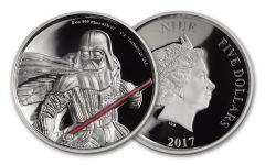 2017 Niue 5 Dollar 1-oz Silver Darth Vader UHR Proof