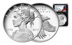 2017-P 1-oz Silver American Liberty Medal NGC PF69UCAM Flag BC