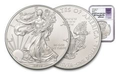 2018 1 Dollar 1-oz Silver Eagle NGC MS70 First Releases Jones Signed