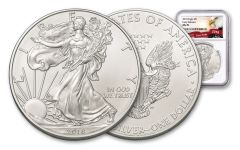 2018 1 Dollar 1-oz Silver Eagle NGC MS70 Early Releases Eagle Label