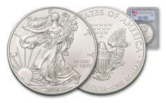 2018 1 Dollar 1-oz Silver Eagle PCGS MS70 First Strike