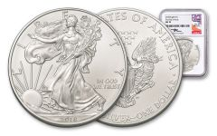 2018 1 Dollar 1-oz Silver Eagle NGC MS70 First Day Of Issue Mercanti Signed