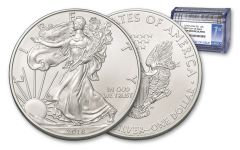 2018 1 Dollar 1-oz Silver Eagle NGC Gem First Day Of Issue Roll 20pc