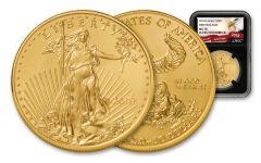 2018 50 Dollar 1-oz Gold Eagle NGC MS70 First Releases Eagle Label - Black
