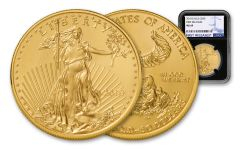 2018 50 Dollar 1-oz Gold Eagle NGC MS69 First Releases - Black