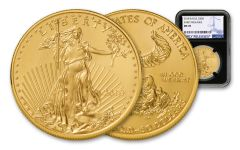 2018 50 Dollar 1-oz Gold Eagle NGC MS70 Early Releases - Black
