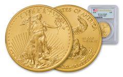 2018 50 Dollar 1-oz Gold Eagle PCGS MS69 First Strike Flag Label