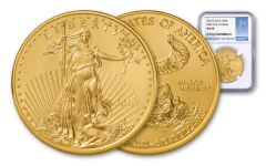 2018 50 Dollar 1-oz Gold Eagle NGC MS69 First Day Of Issue Blue/Silver Label