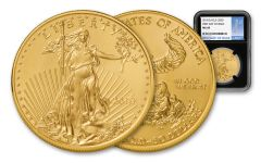 2018 50 Dollar 1-oz Gold Eagle NGC MS69 First Day Of Issue Blue/Silver Label - Black