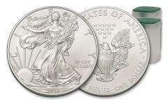 2018 1 Dollar 1-oz Silver Eagle BU 20-Coin Roll