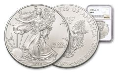 2018 1 Dollar 1-oz Silver Eagle NGC MS69 Brown Label