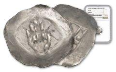 1300-1400 Austria Silver Hall Hand Heller NGC AU55