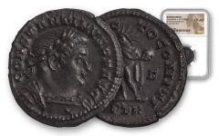 Ancient Roman  Bronze Constantine I NGC CH AU