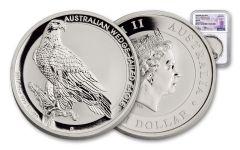 2017-P Australia 1-oz Silver Wedge-Tailed Eagle NGC MS70 Anniversary Mercanti
