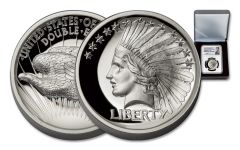 2017 1-oz Silver Double Eagle Indian High Relief PF70UCAM Mercanti Signed