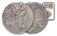 Ancient Greek 110/109 B.C. Greek Silver Shekel of Tyre NGC AU