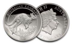 2017 Australia 8 Dollar 5-oz Silver Kangaroo High Relief Proof