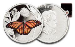 2017 Canada 50 Dollar 3-oz Silver Monarch Migration Proof