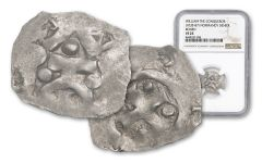 1035-1087 Normandy Silver Rouen Denier Of William NGC VF25