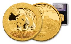2017 China 1-oz Gold Moon Panda NGC PF70UCAM- First Releases