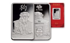 2018 PAMP 10 Gram Silver Lunar Year Of The Dog Proof