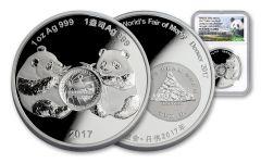 2017 1-oz Silver Panda Denver ANA NGC PF69UC
