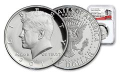 2017-S Silver Kennedy Half Dollar PF70UCAM Early Releases Limited Edition Set 225th Anniversary