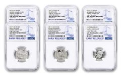 2017-S America The Beautiful Limited Edition Silver Proof Set NGC GEM Proof UCAM ER 6pc Set