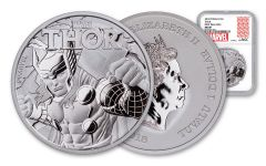 2018 Tuvalu 1-oz Silver Thor MS69 First Releases