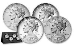 2017 1-oz Silver American Liberty Medals 4pc Set